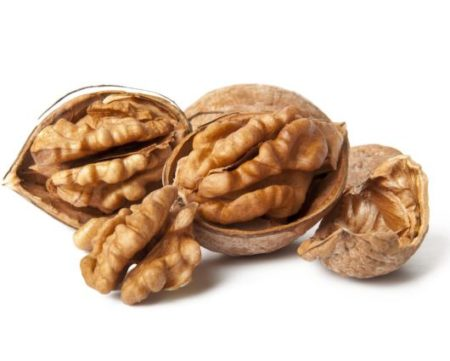14238793 - walnuts on a white background