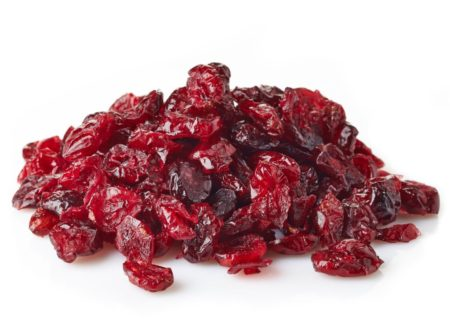 26369492 - dried cranberries isolated on white background